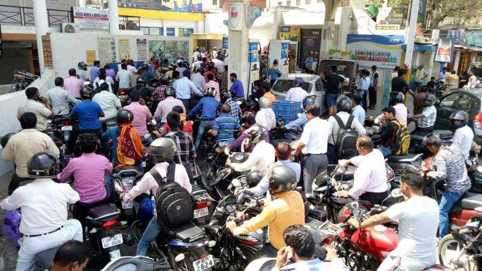 Of the 152 pumps in Lucknow, only four — the ones owned by the fuel companies directly — and a few private ones are open.