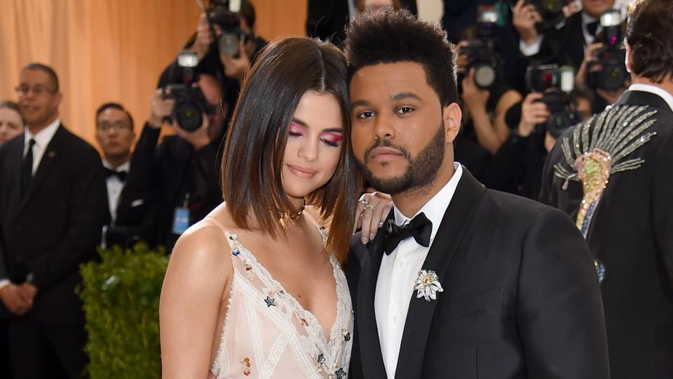 Selena Gomez and The Weeknd attends the Rei Kawakubo/Comme des Garcons: Art Of The In-Between Costume Institute Gala at Metropolitan Museum of Art on May 1, 2017 in New York City.