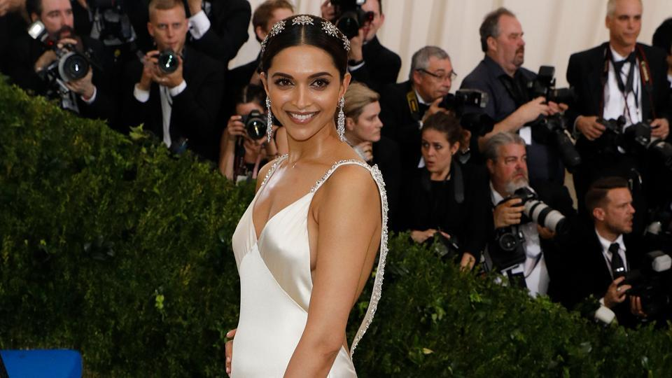 Deepika Padukone made an appearance at the Met Gala 2017 in a Tommy Hilfiger gown.