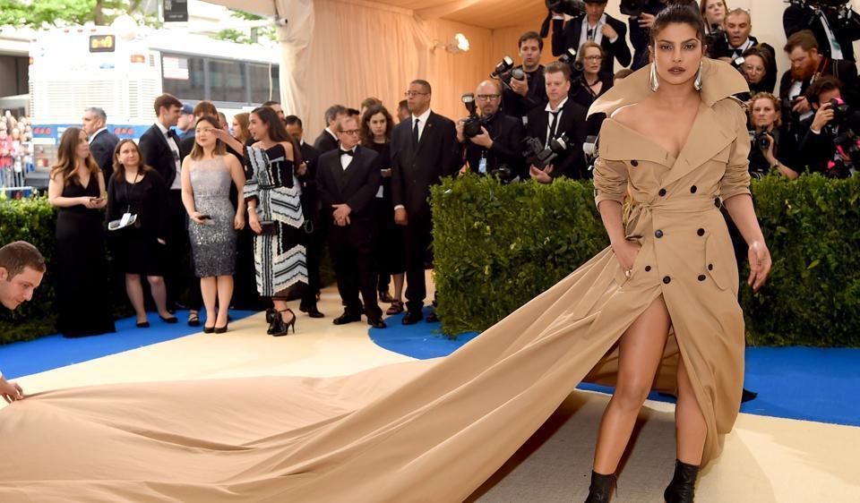 Priyanka Chopra attends the Rei Kawakubo/Comme des Garcons: Art Of The In-Between Costume Institute Gala at Metropolitan Museum of Art .