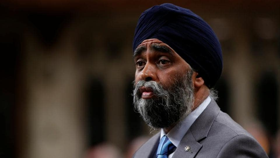 Canada's defence minister Harjit Sajjan speaks in the House of Commons in Ottawa on Monday.