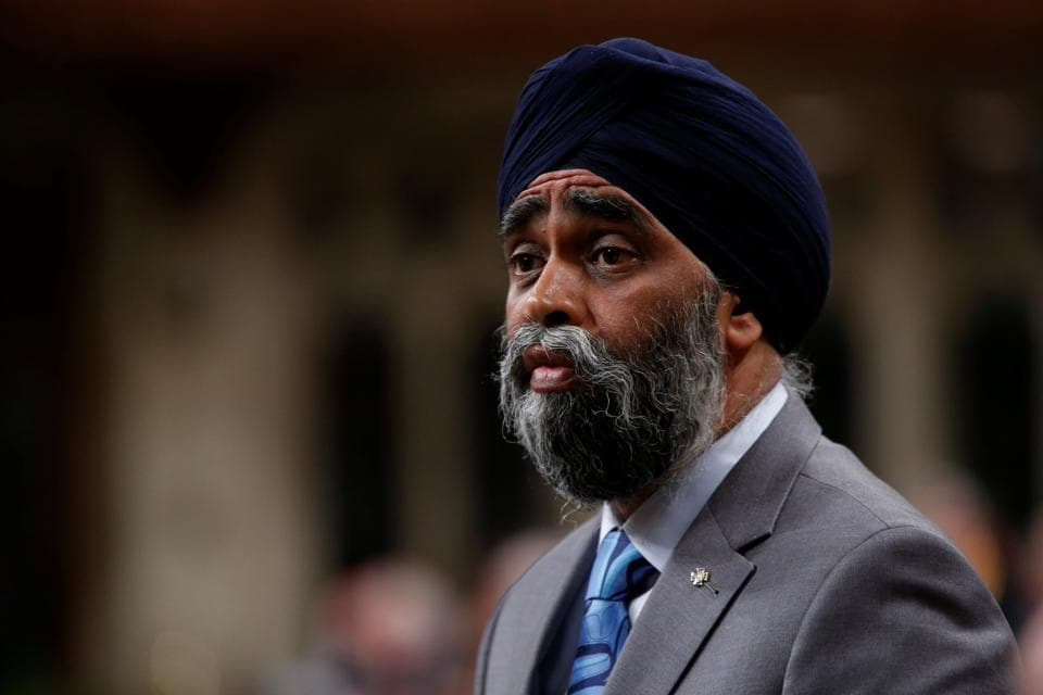 Harjit Sajjan during Question Period in Canada's House of Commons in Ottawa on Monday.
