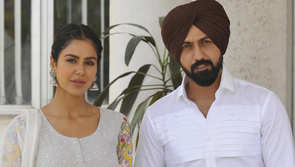 Punjabi actor Gippy Grewal and Sonam Bajwa at HT Office in Mohali on Thursday, April 13, 2017.