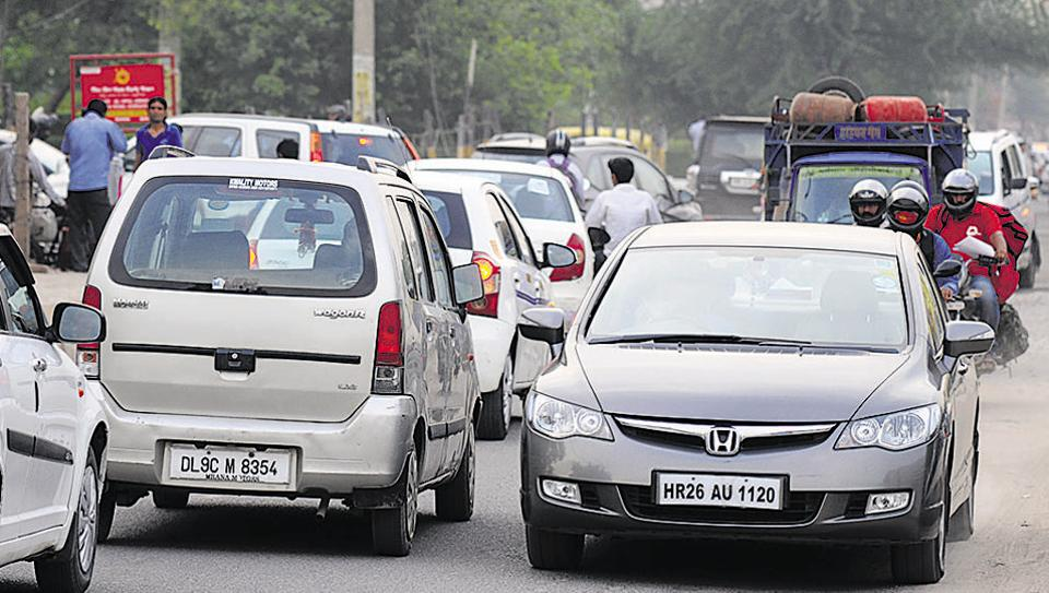 Residents of condominiums on Sohna Road said they have repeatedly complained to authorities about the traffic congestion and encroachments, but to no avail.