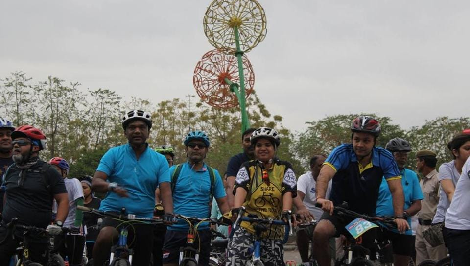 More than 500 cyclists participated in the event on Sunday.