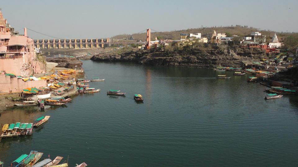 View of the Narmada River in Madhya Pradesh.