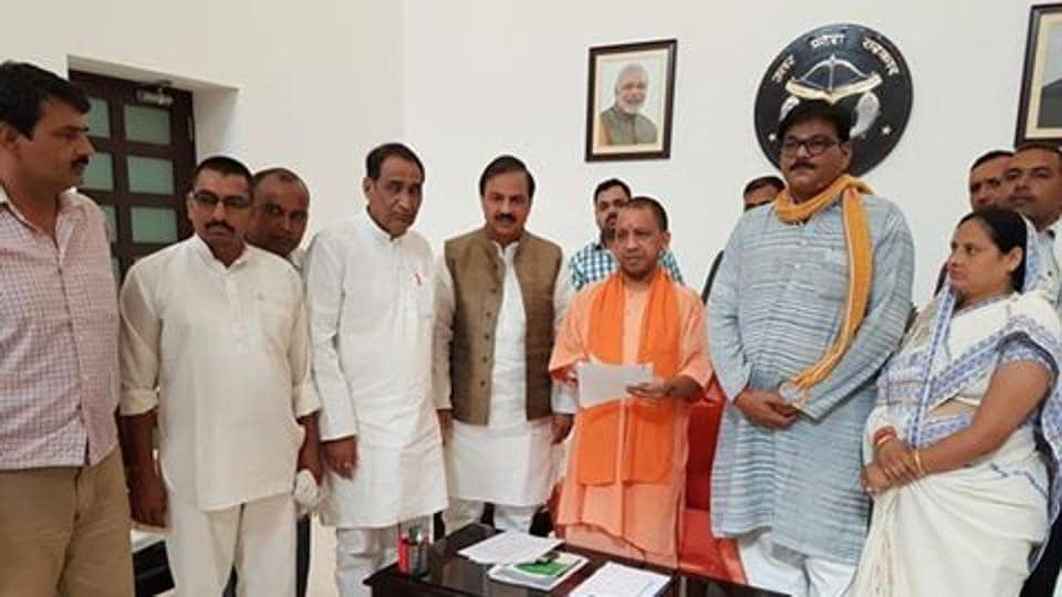 Union minister MP Mahesh Sharma, of Gautam Budh Nagar, Jewar MLA Dhirendra Singh and Dadri MLA Tejpal Nagar met the chief minister on Tuesday morning to discuss the issue of farmers accused of violence in the 2011 Bhatta-Parsaul agitation.
