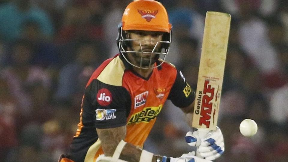 Sunrisers Hyderabad's Shikhar Dhawan has shone in the IPL 2017 so far with 341 runs from 9 matches.
