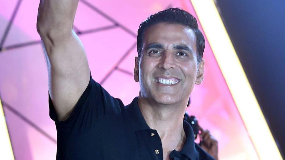Akshay Kumar at the Transform Maharashtra event in Mumbai on Monday.