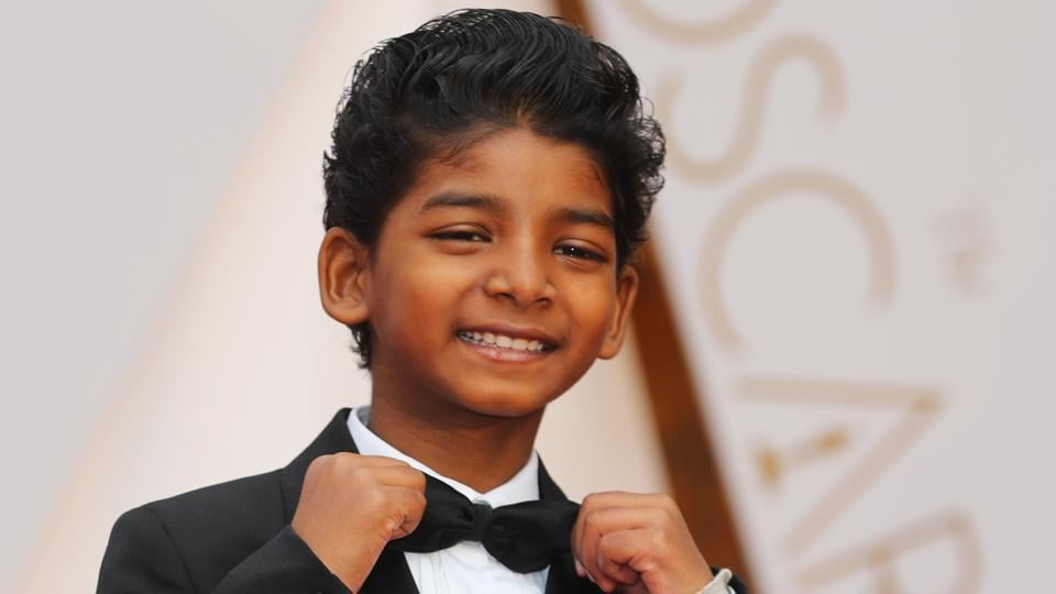 Actor Sunny Pawar of Lion arrives at the 89th Academy Awards.