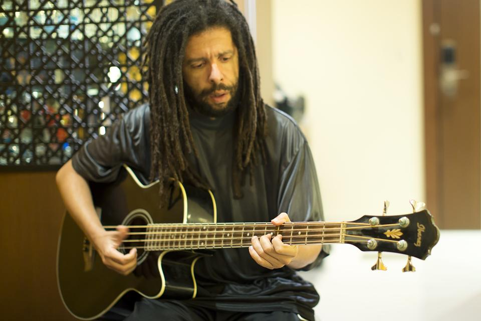 Bassist Yossi Fine in a still from the documentary Mandala Beats.