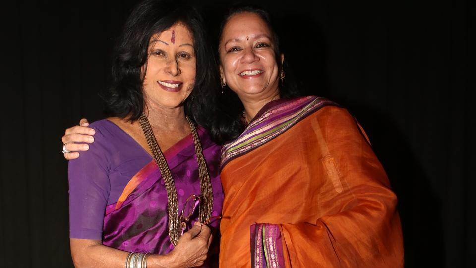 Shovana Narayan with her first student, Shruti Gupta Chandra.