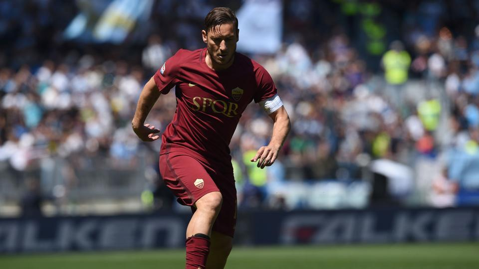 Francesco Totti has been at AS Roma since he was 13 and made his debut for the club in 1993.