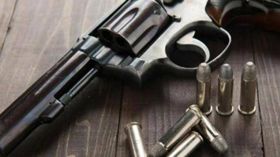 Two pistols and two machine guns were found during one of the raids.