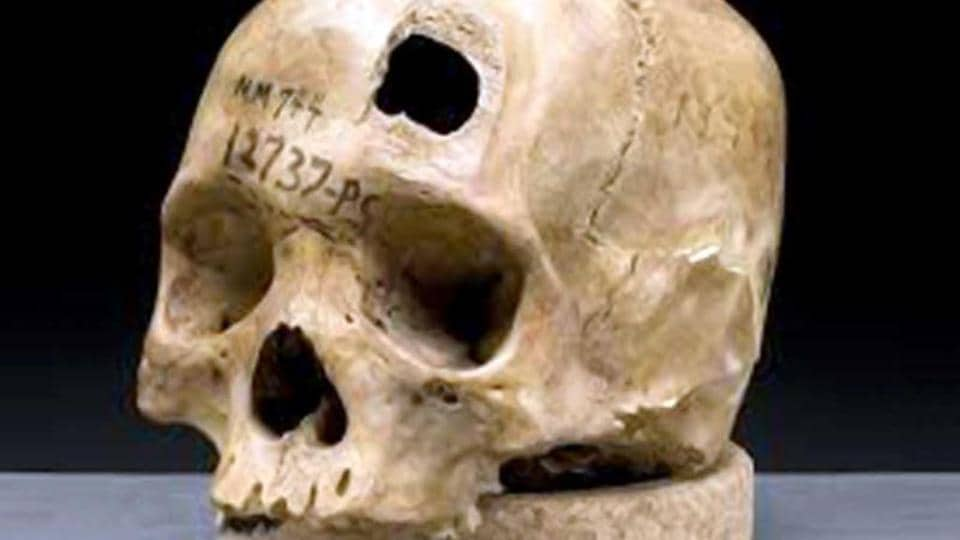 An Indian was held in Nepal for allegedly smuggling human skulls.