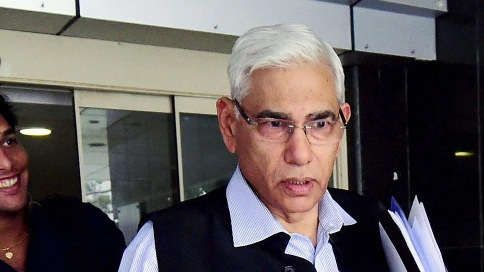 Head of the Supreme Court-appointed BCCI's Committee of Administrators Vinod Rai visits the BCCI headquarters in Mumbai.