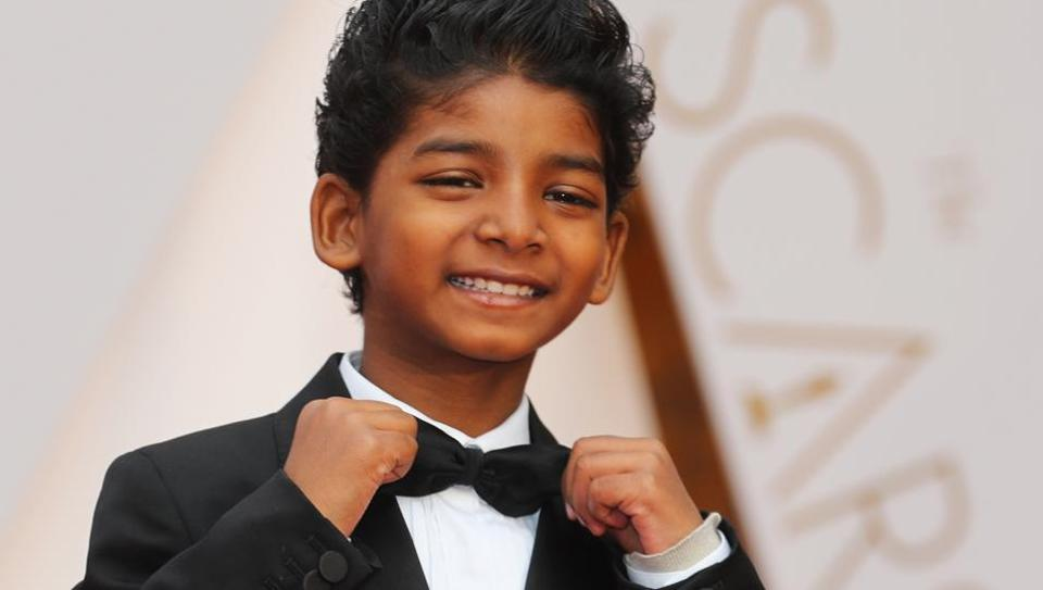 Sunny Pawar at the 89th Academy Awards event.