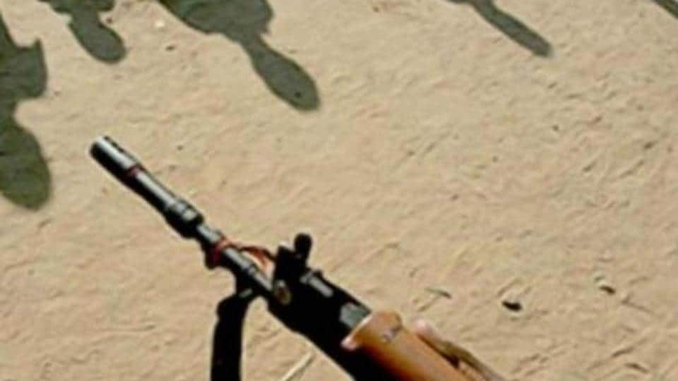 A CRPF jawan and two state police personnel were injured in a firing with the militants in Gadchiroli district of Maharashtra.