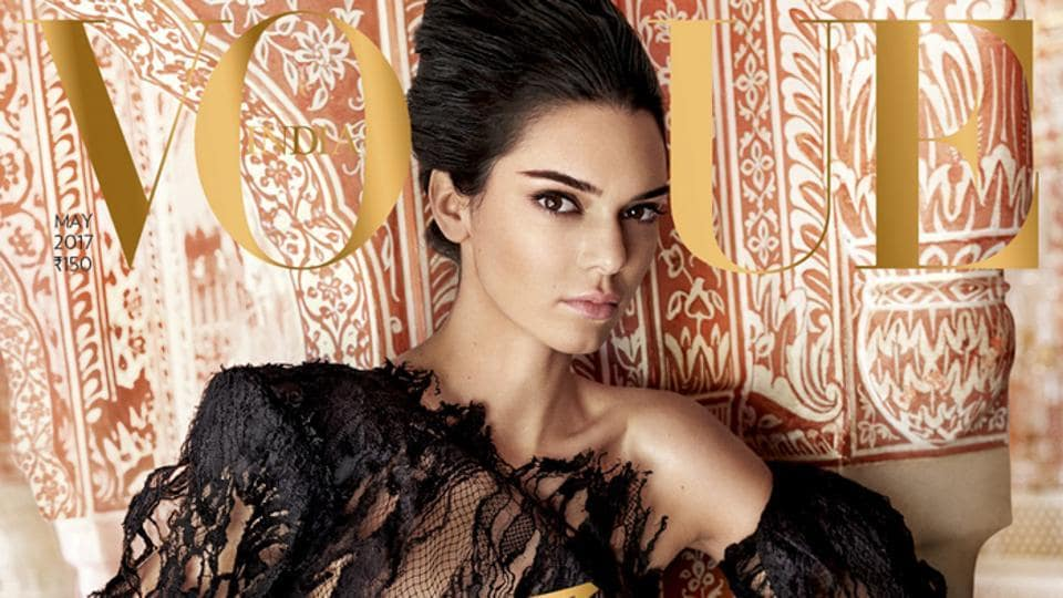 Vogue India's 10th anniversary issue cover shoot with Kendall Jenner.