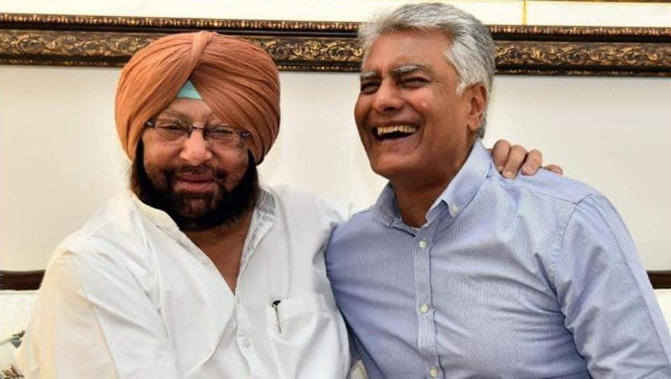 Punjab chief minister Capt Amaridner Singh with Sunil Jakhar.