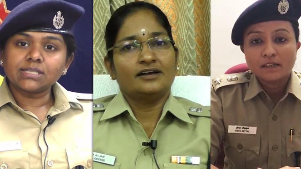 The officers include superintendent of police of Coimbatore RV Ramyabharathi, Deputy Commissioner of Police (DCP), Coimbatore City, S Lakshmi, and DCP, Tiruppur City, Disha Mittal.