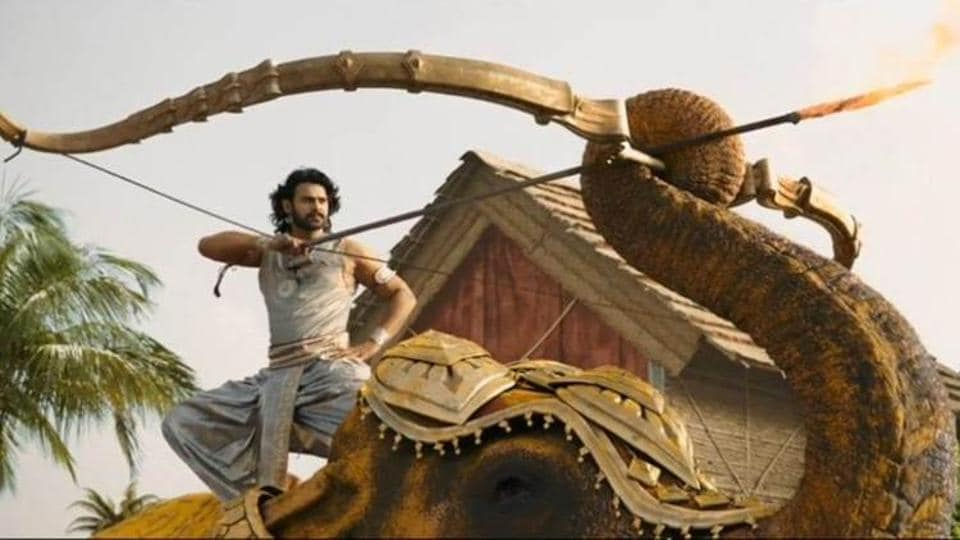 Prabhas in a still from Baahubali 2:The Conclusion. He plays Amarendra Baahubali in the film.