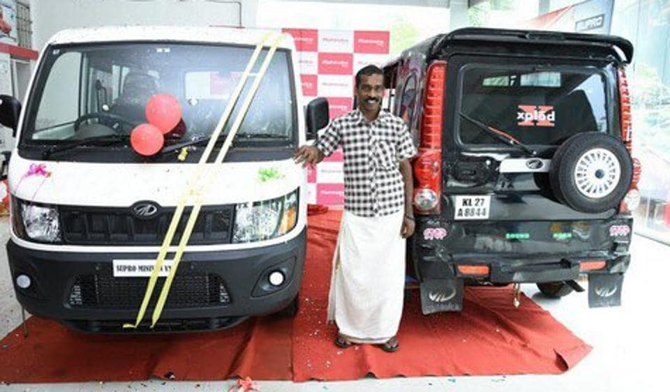 Anand Mahindra gifted a brand new Supro mini truck to the Kerala man, Sunil, who owned a three-wheeler Scorpio.