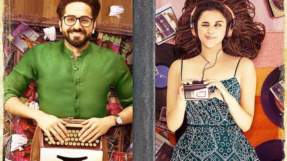 Ayushmann Khuranna and Parineeti Chopra on the poster of Meri Pyaari Bindu.