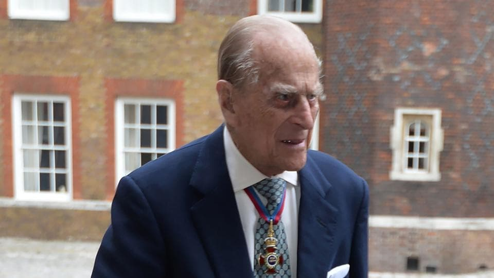 File photo of Britain's Prince Philip, the Duke of Edinburgh, arriving at Chapel Royal in St James's Palace in London for an Order of Merit service on May 4, 2017.