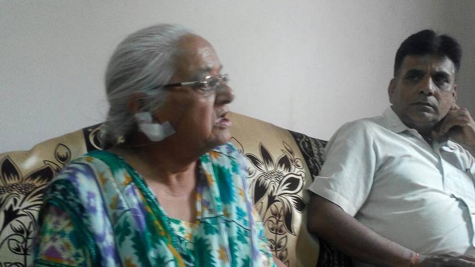 Jalandhar resident, Santoshi Devi, had to be hospitalised as snatchers left her ear profusely bleeding.
