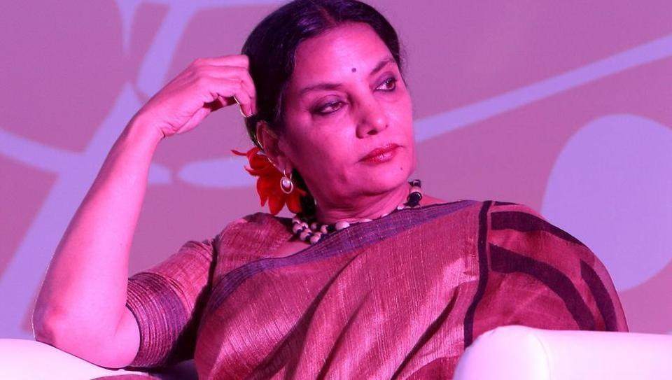 Shabana Azmi at a music video launch event in New Delhi.