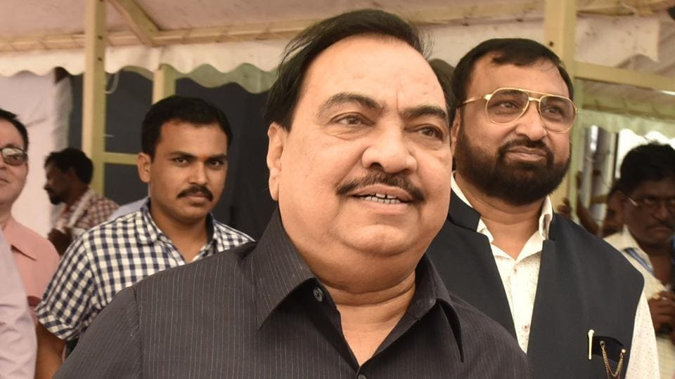 """Former Maharashtra revenue minister Eknath Khadse is accused of buying a three-acre plot """"reserved"""" for Maharashtra Industrial Development Corporation (MIDC) in Bhosari, near Pune."""