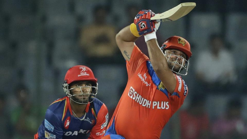 Gujarat Lions' Suresh Raina plays a shot during the 2017 Indian Premier League (IPL) match against Delhi Daredevils in New Delhi.