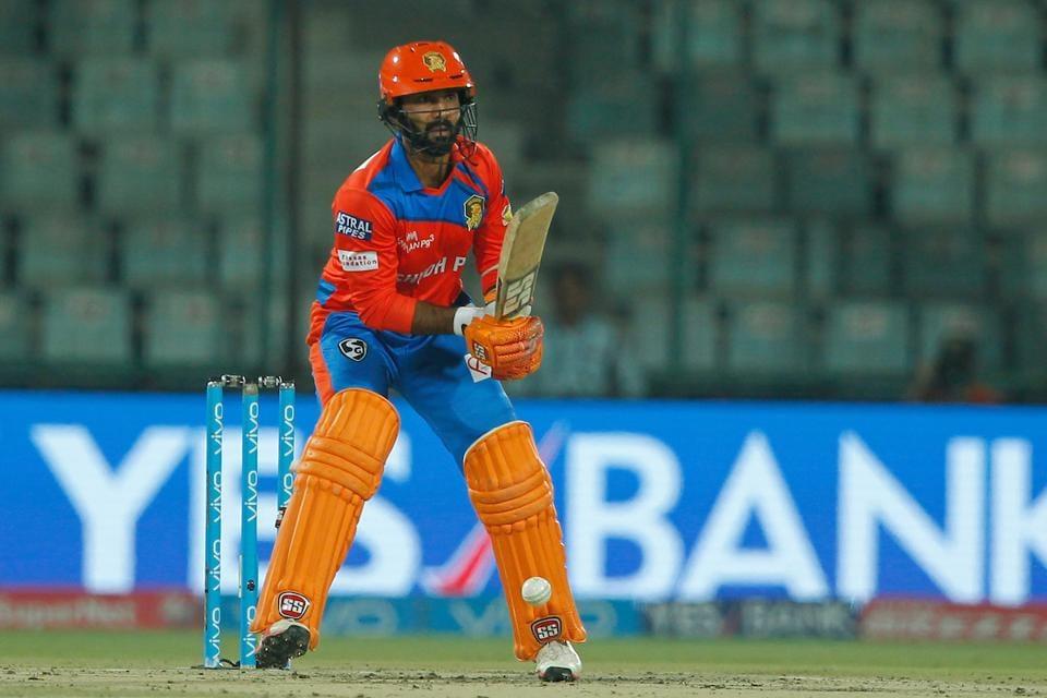 Dinesh Karthik slammed his 14th fifty as Gujarat Lions scored 208/7 vs Delhi Daredevils in an IPL 2017 match on Thursday.