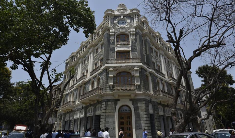 Ismail Building near Flora Fountain in Fort, in its new, restored avatar as the five-level flagship store for a Spanish fast fashion brand.
