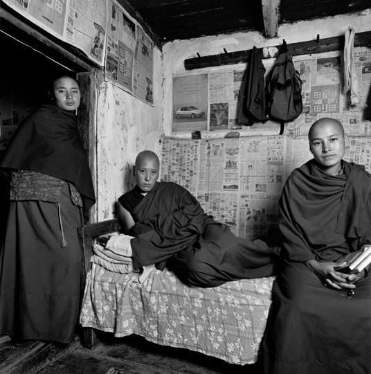 Nuns at a Buddhist nunnery in Sisina, 2004. (Courtesy: Serena Chopra)