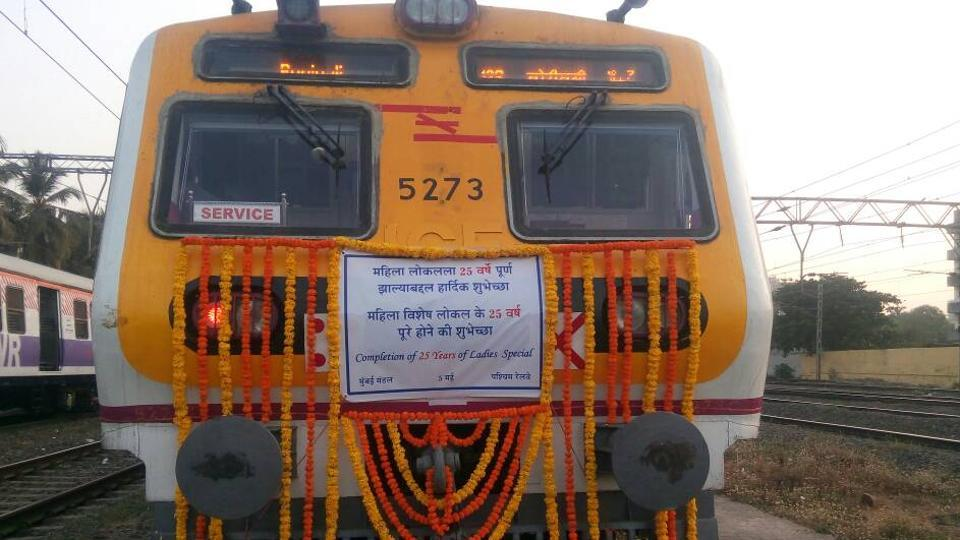 The train decorated for the occasion.
