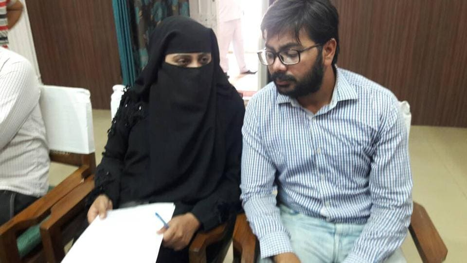Nida Khan and her brother met district magistrate Pinki Jowel on Friday and submitted a complaint regarding the attack.