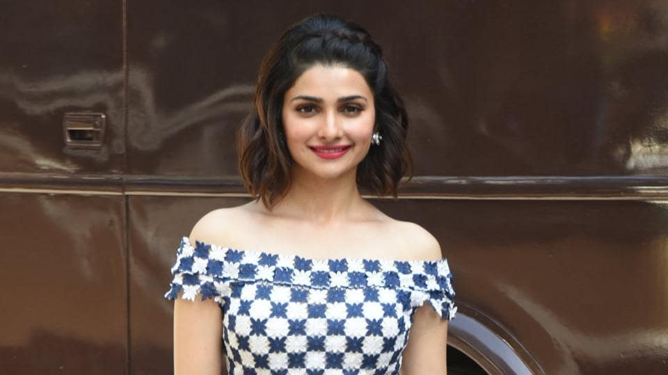 Prachi Desai last year sported this off-shoulder dress during a film promotion.