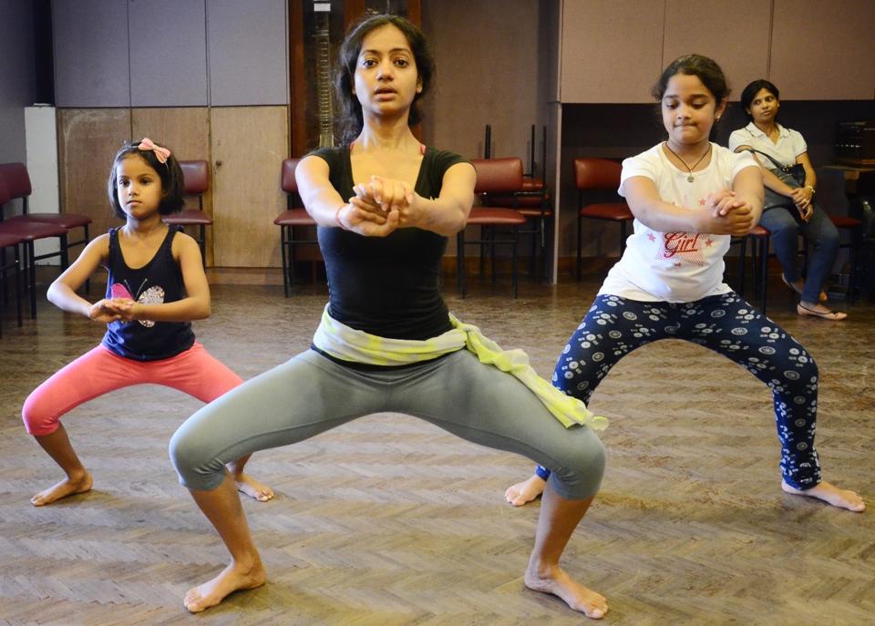 A dance workshop  underway.