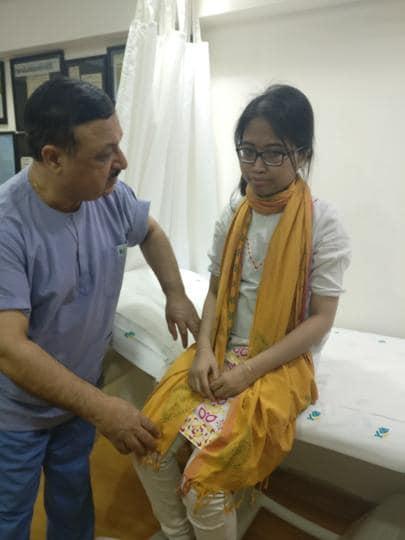 Doctors at a Delhi hospital made 23-year-old Bangladeshi girl, Promi Khisa, walk after nearly two years