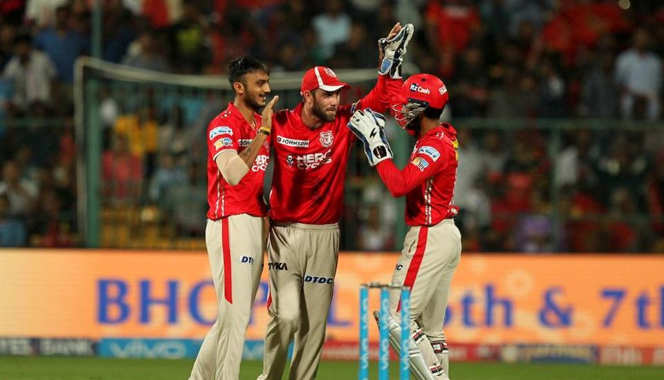 Axar Patel's unbeaten 17-ball 38 and 3/11 helped Kings XI Punjab beat Royal Challengers Bangalore by 19 runs to keep their hopes of sealing an IPL 2017 playoff spot alive.  (BCCI )