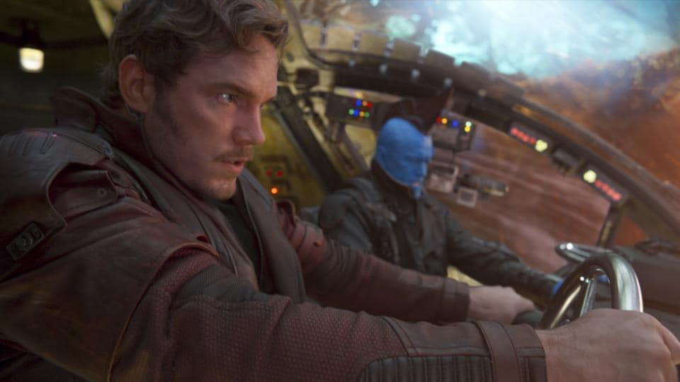Chris Pratt (left), and Michael Rooker in a scene from Guardians Of The Galaxy Vol. 2.