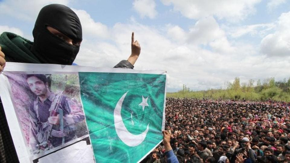"""Top Hizbul commander Zakir Rashid Bhat was seen in a video this March in which he accused Kashmiri policemen and their informers of committing """"anti-Islamic acts"""" by """"joining the evil""""."""