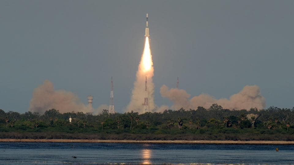 ISRO's GSAT-9 on board the GSLV-F09 launches from Sriharikota in the southern state of Andhra Pradesh on May 5.
