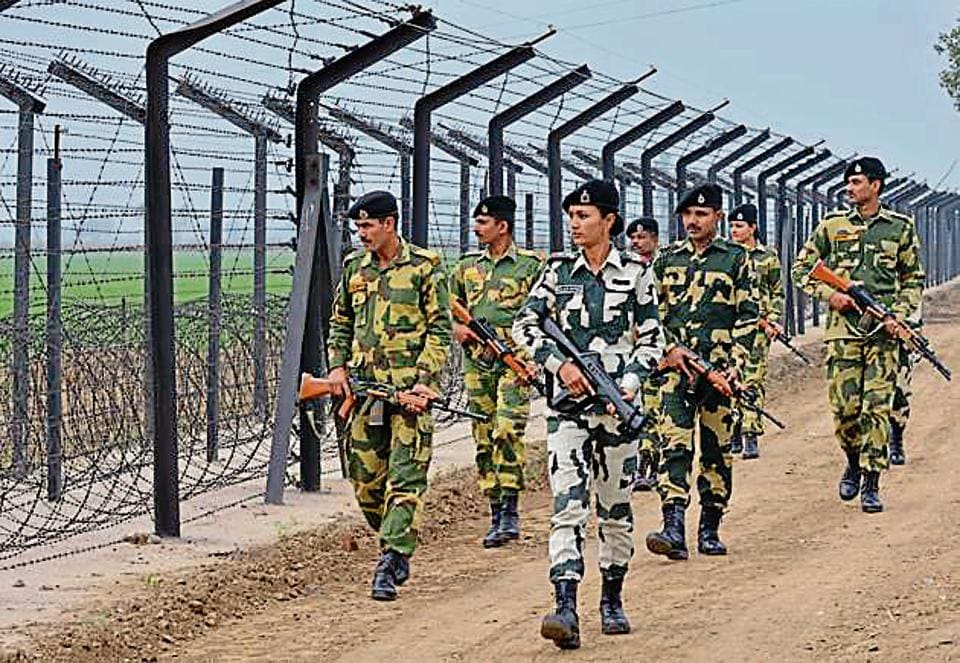 BSF is maintaining tight vigil in the Bamiyal sector in Pathankot.