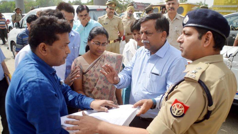 Principal secretary Avnish Awasthi had a conducted an inspection of the plot near river Hindon on April 23.