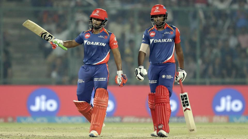 Rishabh Pant (L) and Sanju Samson scored 97 and 61, respectively, to help Delhi Daredevils beat Gujarat Lions by seven wickets in their IPL 2017 clash at the Feroz Shah Kotla Stadium in Kolkata on Thursday.