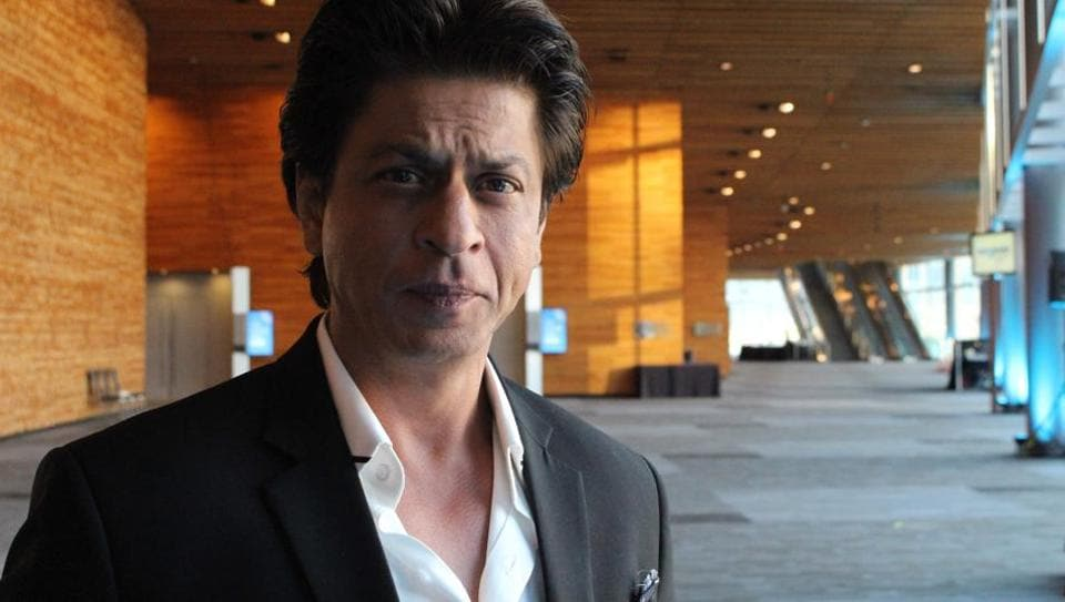 Shah Rukh Khan poses for a photo after giving a talk at a TED Conference in Vancouver on April 27, 2017.