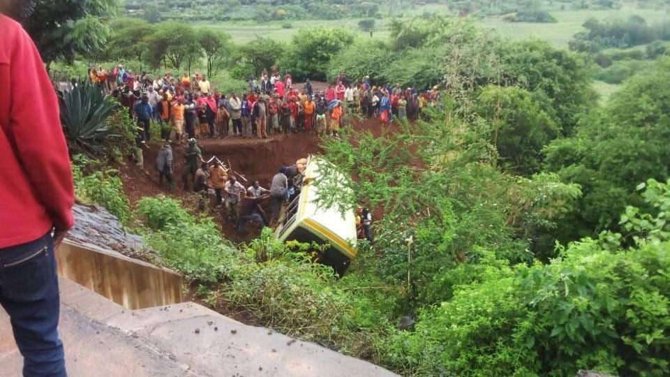 At least 29 schoolchildren were killed in a bus crash in northern Tanzania on Saturday, along with two teachers and the driver, the school's director said.